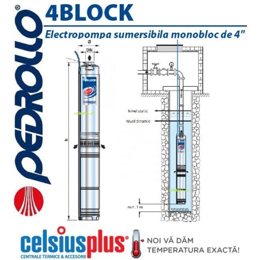 Pompa submersibila Pedrollo 4Block  M2/18 125metri