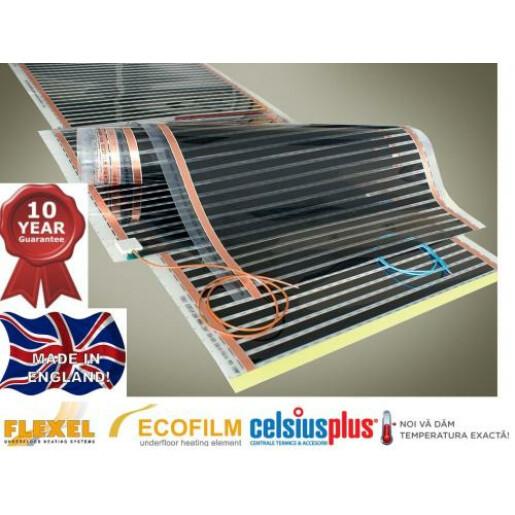 Ecofilm Folie carbon incalzitoare 80W/mp 1000mm latime