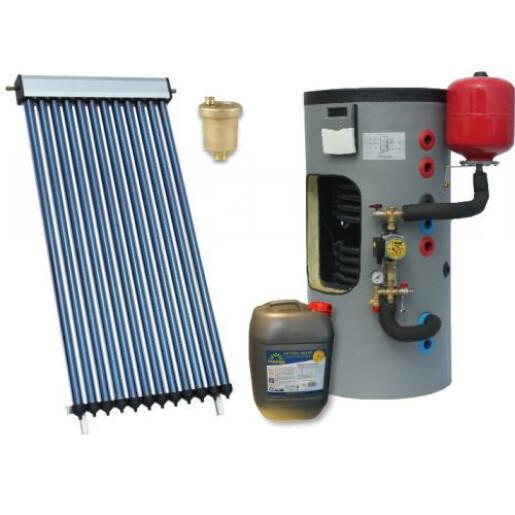 Pachet panou solar eco 4 cu boiler bivalent 200L