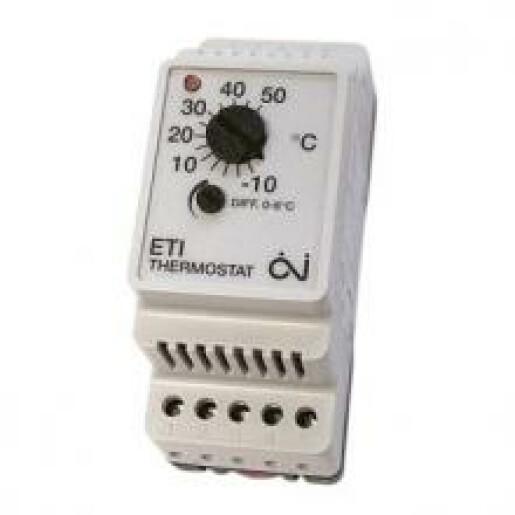 Termostat reglabil cu diferential ETI-1551 -10/+50°C 230V 10A
