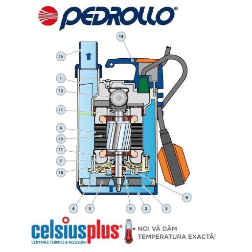 Pompa submersibila drenaj cu plutitor  Pedrollo TOP 2  H 5m