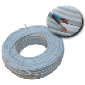 Cablu bifilar 2x0.5 pentru montaj  termostat ambient cu fir