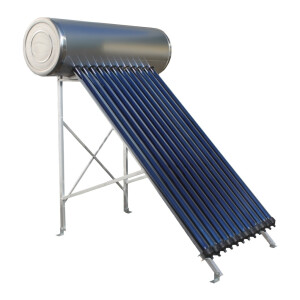 Panou solar presurizat pentru apa calda  Panosol  PS120 cu boiler inox 120 L si suport pentru  TERASA